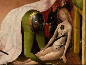 Bosch,_Hieronymus_-_The_Garden_of_Earthly_Delights,_right_panel_-_Detail_Green_person_(mid-right)